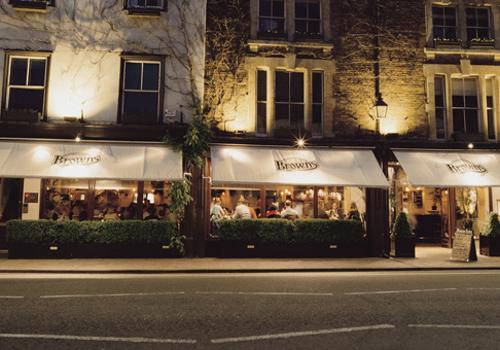 Browns Brasserie Restaurant London
