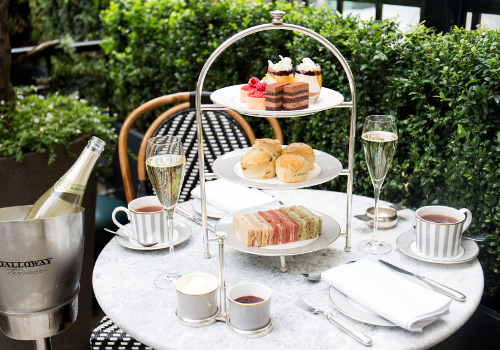 Afternoon tea at dalloway terrace in the bloomsbury hotel for Dalloway terrace hotel
