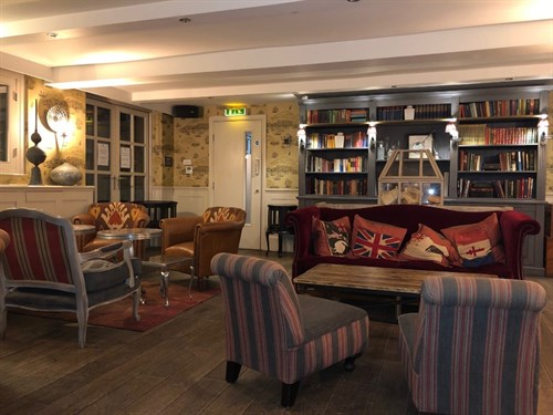 Main Interior Library at Great John Street Hotel Afternoon Tea