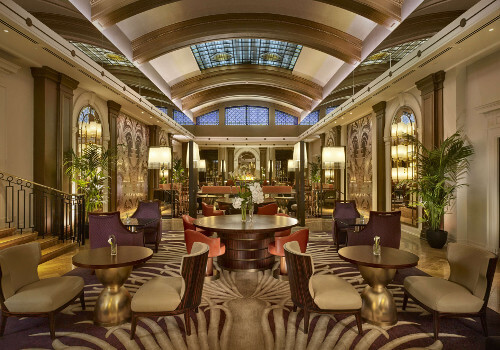 Interior of Sheraton Grand London Park Lane | Best Afternoon Tea Gift Vouchers at award winning venues