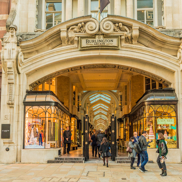 Burlington Arcade and Afternoon Tea at The Wolseley