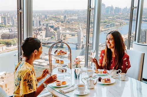 Shangri-La Hotel Afternoon Tea & View from The Shard