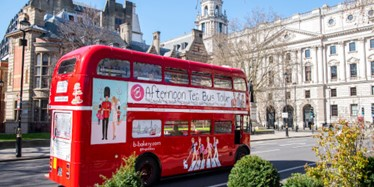 Afternoon Tea aboard the B Bus sightseeing tour of London